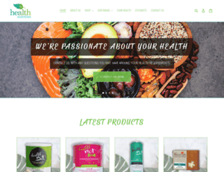 healthnutrition.co.za screenshot