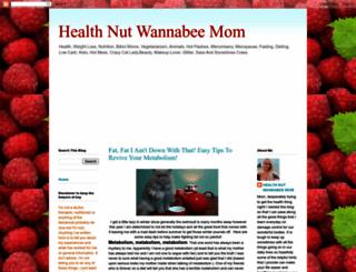 healthnutwannabeemom.blogspot.com screenshot