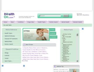healthon.com screenshot