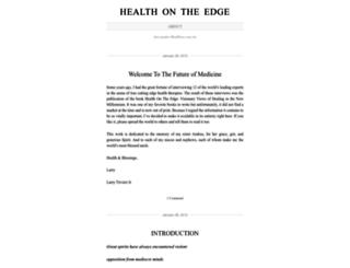 healthontheedge.wordpress.com screenshot