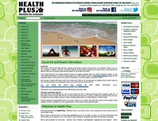 healthplus.co.uk screenshot