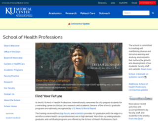 healthprofessions.ku.edu screenshot