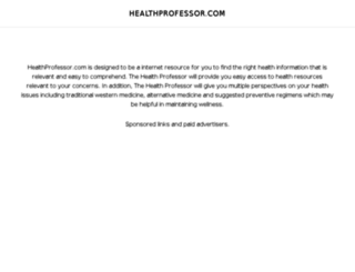 healthprofessor.com screenshot