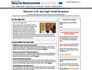 healthrevelations.com screenshot
