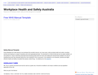 healthsafety.com.au screenshot