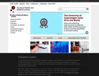 healthsciences.ku.dk screenshot