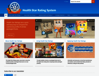 healthstarrating.gov.au screenshot