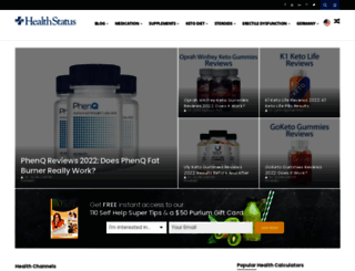 healthstatus.com screenshot