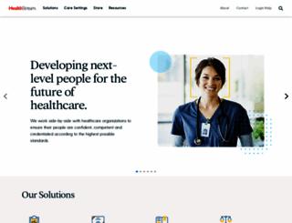 healthstream.com screenshot