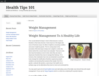 healthtips101.edublogs.org screenshot