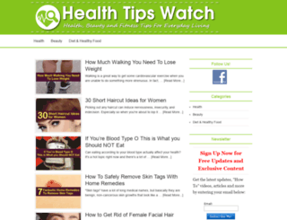 healthtipswatch.com screenshot