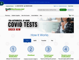healthwarehouse.com screenshot