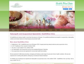healthwiseclinic.com.au screenshot