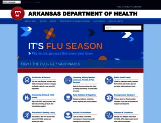 healthy.arkansas.gov screenshot