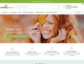 healthy.co.nz screenshot