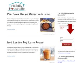healthy.hillbillyhousewife.com screenshot