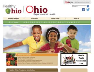 healthy.ohio.gov screenshot
