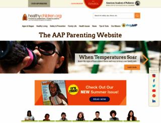 healthychildren.org screenshot