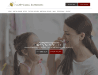 healthydentalexpressions.com screenshot