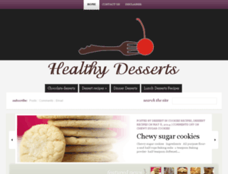 healthydessertsrecipes.us screenshot