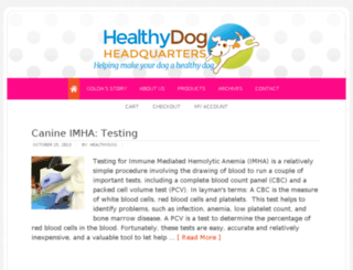 healthydoghq.com screenshot