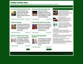 healthyfamiliesnews.blogspot.com screenshot