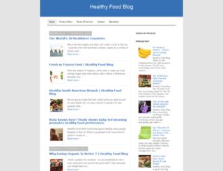 healthyfoodblogg.blogspot.com screenshot