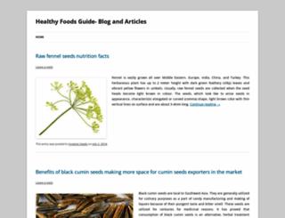 healthyfoodsinfos.wordpress.com screenshot