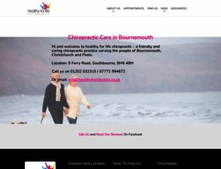 healthyforlifechiro.co.uk screenshot