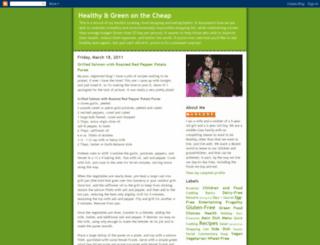 healthygreenonthecheap.blogspot.com screenshot