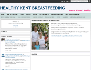 healthykentbreastfeeding.ning.com screenshot