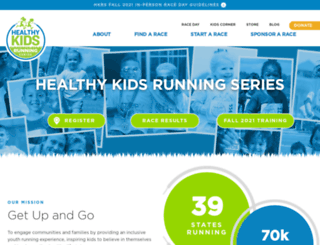 healthykidsrunningseries.org screenshot