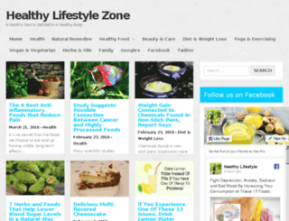 healthylifestylezone.com screenshot