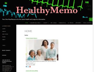 healthymemo.com screenshot