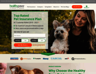 healthypawspetinsurance.com screenshot