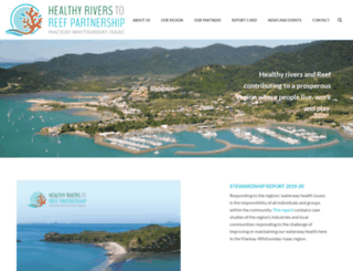healthyriverstoreef.org.au screenshot
