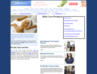 healthyskinbody.com screenshot