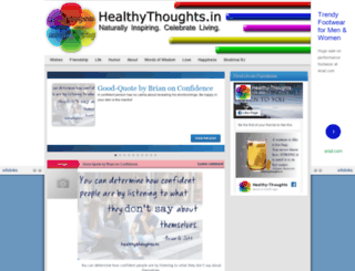 healthythoughts.in screenshot