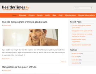healthytimesblog.com screenshot