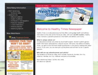 healthytimesnewspaper.com screenshot