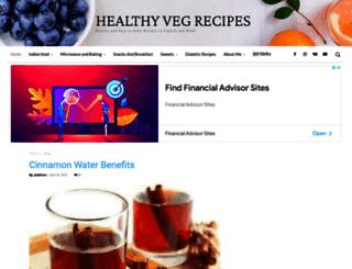 healthyvegrecipes.com screenshot