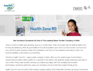 healthzonero.in screenshot
