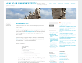 healyourchurchwebsite.com screenshot