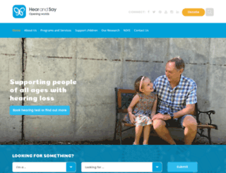 hearandsaycentre.com.au screenshot
