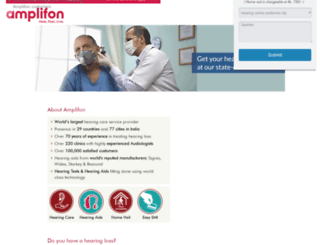 hearing-aid-specialists.amplifon.in screenshot