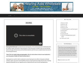hearingaidswholesale.com screenshot