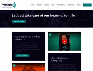 hearinghealthfoundation.org screenshot
