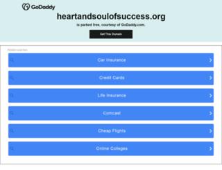heartandsoulofsuccess.org screenshot