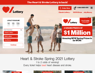 heartandstrokelottery.ca screenshot