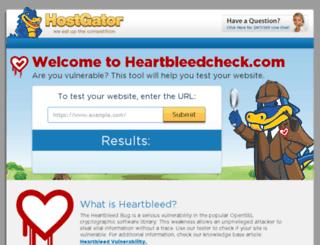 heartbleedcheck.com screenshot